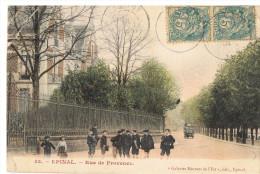 279/88 - CPA Colorisée EPINAL - Ecoliers Dans La Rue De Provence - Epinal