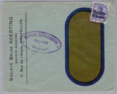 Belgien Zensur. Firmen Fensterbrief - WW I