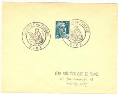 LRD3 - JOURNEE DU TIMBRE NICE  29/6/1946