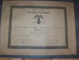 Diplôme Médaille Militaire (A Titre Posthume Mort Pour La France ) - Diplômes & Bulletins Scolaires