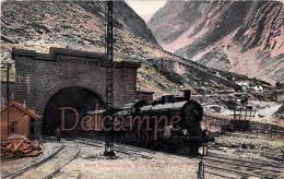SUISSE - GOTTHARDBAHN - Tunnel Train - Dos Vierge   - 2 Scans - UR Uri