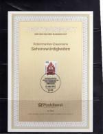 GERMANY GERMANIA ALLEMAGNE 13 8 1992 NEUBRANDENBURG SEHENSWURDIGKEITEN SONDERPOSTWERTZEICHEN TAG DER BRIEFMARKE FDC - Maximum Cards