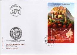 Helvetia 2009 FDC Stamp Day Journ�e du Timbre castle chateau castello Bulle