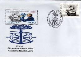 Italia 2011 Annullo Livorno Giuramento Allievi Accademia Navale Su Busta - Militaria