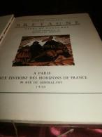"""Bretagne au bout du monde.Types et coutumes.Dessins originaux de Meheut.Saints celtiques""""Carnac""""Arghoat""""Breton""""1930"""