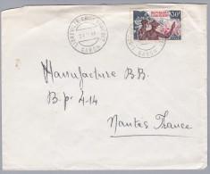 GABUN 1966-11-24 LIBREVILLE Brief Nach Nantes F. - Gabon (1960-...)