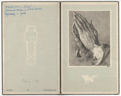 Doodsprentje. Image Pieuse Mortuaire. Martha Van Huffel. Mariakerke 1886/1963. - Devotion Images