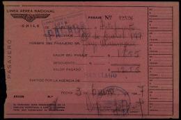 LAN Chile 1947. Vuelo nacional. Santiago - Antofagasta. Domestic flight. Santiago - Antofagasta.