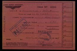 LAN Chile 1947. Vuelo Nacional. Antofagasta - Arica. Domestic Flight. Antofagasta - Arica. - Plane