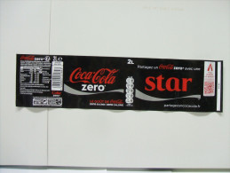"Etiquette Soda COCA COLA ZERO ""STAR""  2 L - Autres"