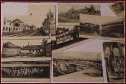 02 - PONTAVERT  10 CPA dt qq ANIMATION POILUS Eglise Pont La grande Rue Chalet VALBAUME CANAL FERMES  circul�e 1917