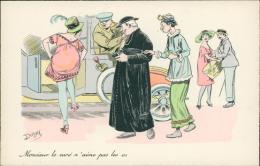 ILLUSTRATION - Signée DODAY - Monsieur Le Curé N'aime Pas Les Os (Belle Illustration Couleur/Religion/Mode/Hum Our) - Illustrators & Photographers