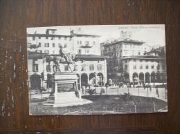 Italie-Carte Postale Ancienne De Livourne-Place Victor-Emmanuel-Oblitéra Tion Militaire - Livorno