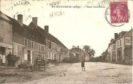 18 - St SATURNIN - Belle Vue Animée De La Rue Centrale ( Attelages , Brouette , Vieille Voiture ) - Saint-Saturnin