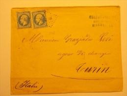 Marcophilie - Assez Rare Lettre à Destination D'Italie - Marseille à Turin (5/7) - Marcophilie (Lettres)