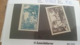LOT 219507 TIMBRE DE FRANCE NEUF** N�451/452 VALEUR 12 EUROS  LUXE