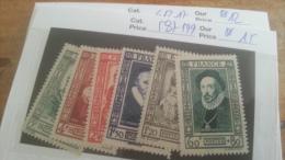 LOT 219524 TIMBRE DE FRANCE NEUF** N�587 A 599 VALEUR 15 EUROS  LUXE