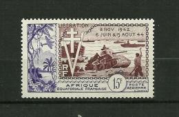 A.E.F.1954 Poste Aérienne    N° 57     10ème Anniv.de La Libération         Neuf Avec Trace De Charnière - Neufs