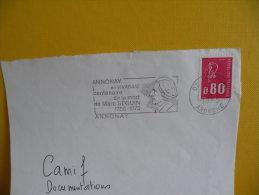 Flamme + Timbre - 07 - Annonay En Vivarais - 9.5.1975 - Marcophilie (Lettres)