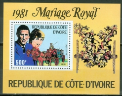 Ivory Coast 1981 Prince Charles And Lady Diana MNH**  - Lot. A327 - Côte D'Ivoire (1960-...)
