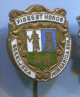BOKELJSKA MORNARICA - Boat, Ship, Vintage Pin, Badge, Navy, Kotor, Montenegro, Enamel - Barcos
