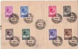 BELGIUM FDC 01/12/1936 COB 438/45 PRINCE BAUDOUIN - ....-1951