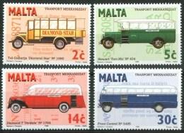 1987 Malta Autobus Bus Set MNH** -Tra29 - Bus