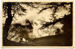 144> MONTE BIANCO : Ghiacciaio Della Brenva E Chalets Le Prè = Viaggiata Intorno Al 1928 - Italia
