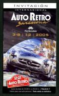 *Auto Retro Barcelona 2005* Entrada-Invitación. Entera. - Coches