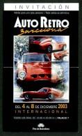 *Auto Retro Barcelona 2003* Entrada-Invitación. Entera. - Coches