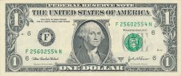 ETATS-UNIS : Billet 1 Dollar, S�rie 2003 A, F, A 1, A 241