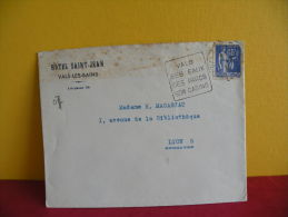 Flamme + Timbre - 07 - Vals Le Bains, Ses Eaux Ses Parc Son Casino - .1939 - Postmark Collection (Covers)