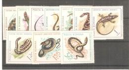 Serie Nº 2100/9 Rumania - Reptiles & Batraciens