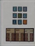COLLECTION SPECIALISEE TYPE SEMEUSE �NUANCES/BLOCS DE 4 GC/ MILLESIMES-36 EX DIFF. MAJ. NEUFS** TTB/SUP.  + 2000 �