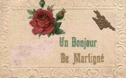 CPA -  Un Bonjour De Martigné    (53) - France