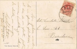 10145. Postal VALLS (Tarragona) 1918 A Barcelona - 1889-1931 Reino: Alfonso XIII