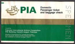 "PAKISTAN INTERNATIONAL AIRLINES PIA DOMESTIC FLIGHTS PASSENGER TICKET UNUSED ""SPECIMEN"" - Tickets"