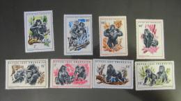Ruanda MNH ** 1970 Mi. 400-407 Gorillas