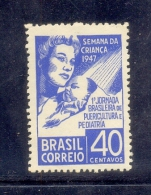 BRAZIL - CHILD CARE WEEK: MOTHER AND CHILD 1947 - MNH - Brazil