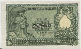 ITALY  P. 91a 50 L 1951 UNC - 50 Lire