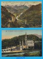 LOURDES (Hautes Pyrénées) 6 CARTES, 1946 / 1931 / 1927. - Cartes Postales