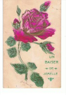 NEL27.08 / CPA / JEMELLE /  UN BAISER DE... / CARTE EN RELEF DE 1903 - Rochefort