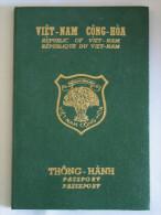 Indo-China Vietnam Passport !  Reisepass Passeport Passaporte Diplomatic Revenue!  Indochina - Historical Documents