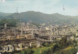 Cartolina GENOVA - Viadotto Sul Polcevera - Genova (Genoa)