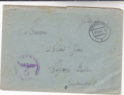 1943 Donaueschingen GERMANY Feldpost COVER  Forces Military - Cartas