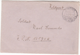 1941 Nimburg GERMANY Feldpost COVER  To FPN 13576B Forces Military - Germany