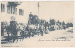 Gruss von der Lenzerheide - Postkutschengrossaufnahme - UPU 1900 - top     (20323)
