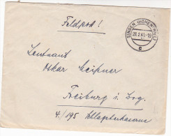 1941 Singen GERMANY Feldpost COVER  To Freiburg Forces Military - Germania