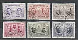 Belgique  1957  N° 1013 à 18 Oblitéré  Série Complete - Used Stamps