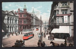 1909 Royal Avenue Belfast-Trams Etc Posted Card Detail As Scanned - Antrim / Belfast